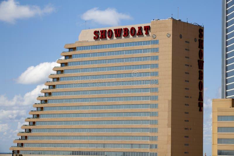 Het Showboat-Casino in Atlantic City, New Jersey stock afbeeldingen