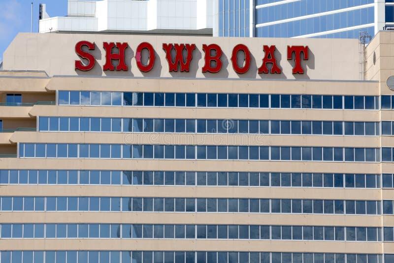 Het Showboat-Casino in Atlantic City, New Jersey stock foto