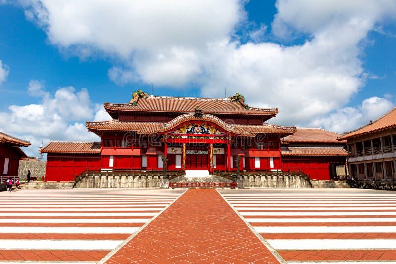 Het Shuri-Kasteel, Naha, Okinawa, Japan Één van het famousekasteel in Okinawa stock afbeelding
