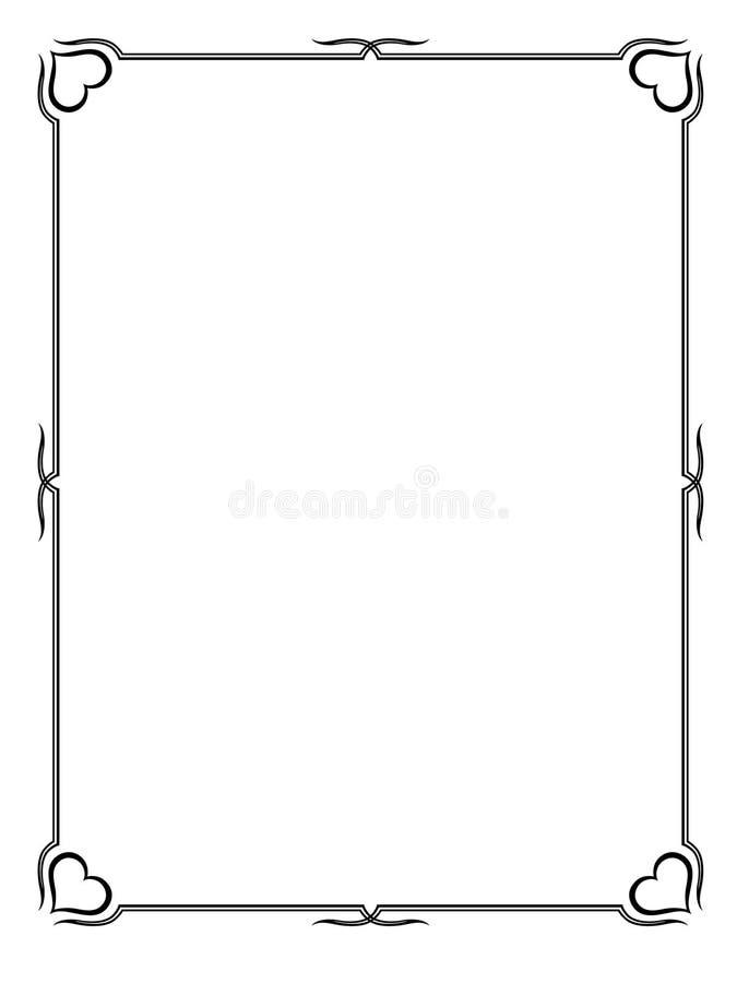 Het sier decoratieve frame van de kalligrafie vector illustratie