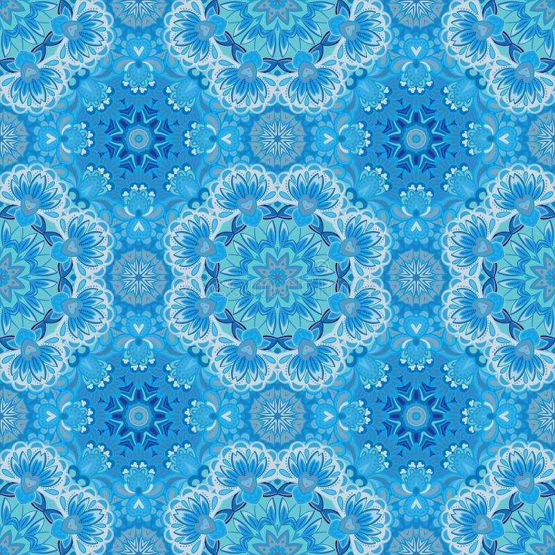 Het sier ronde naadloze patroon van Marokko Oriënteer traditioneel ornament Oosters motief vlak Marokkaanse tegel vector illustratie