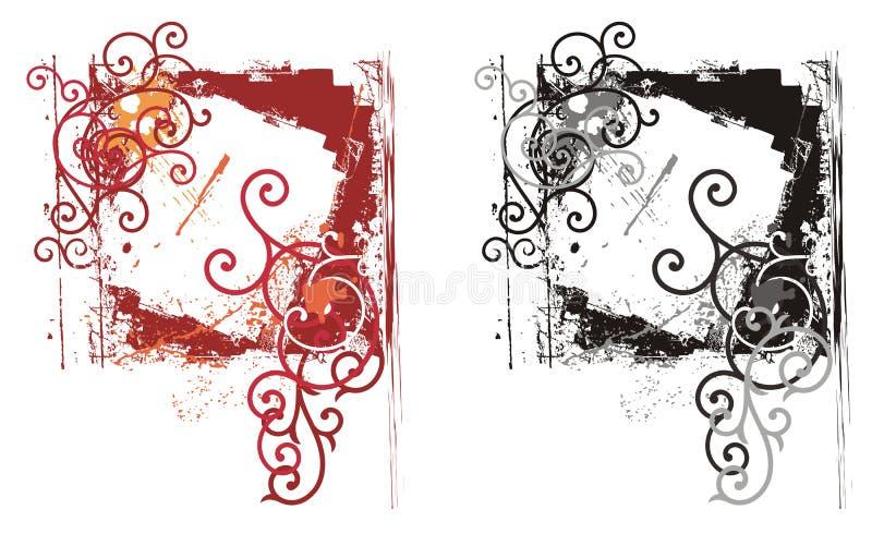 Het sierframe van Grunge stock illustratie