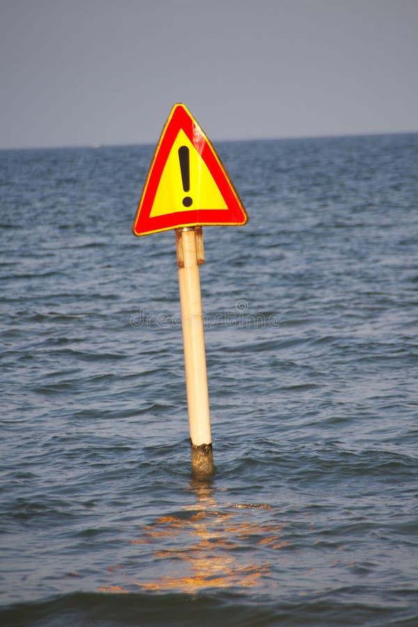 Het signaal van het gevaar stock afbeelding