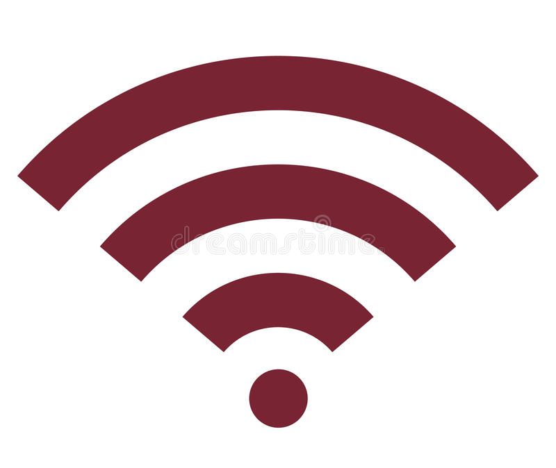 Het signaal vlak pictogram van Wifi draadloos Internet royalty-vrije illustratie