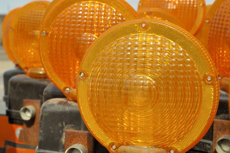 Het signaallichten van het gevaar stock afbeelding