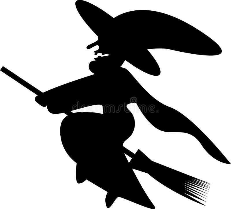 Het Silhouet Clipart van de heks stock foto