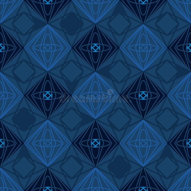 Het silhouet naadloos patroon van de diamantvorm vector illustratie