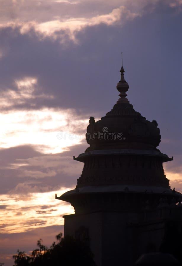 Het silhouet van Bangalore stock fotografie