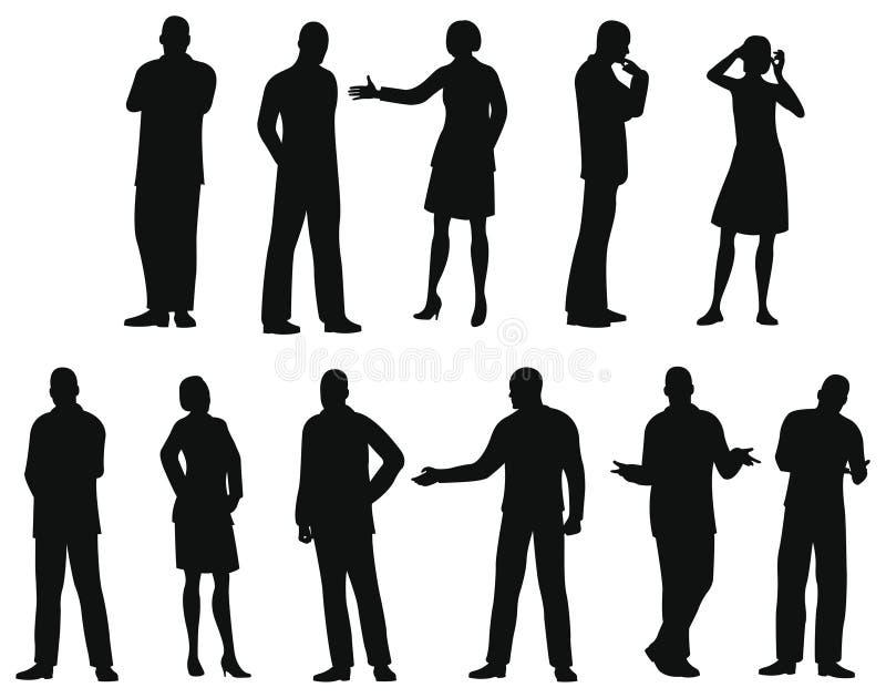 Het silhouet van Businesspeople, vector
