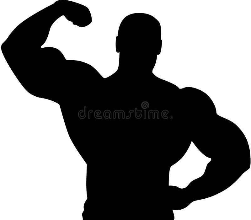 Het Silhouet van de atleet vector illustratie