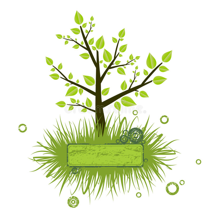Het silhouet van de boom vector illustratie