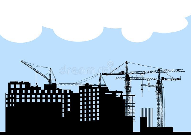 Het silhouet van de bouw stock illustratie