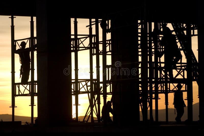 Het silhouet van de bouw royalty-vrije stock afbeelding