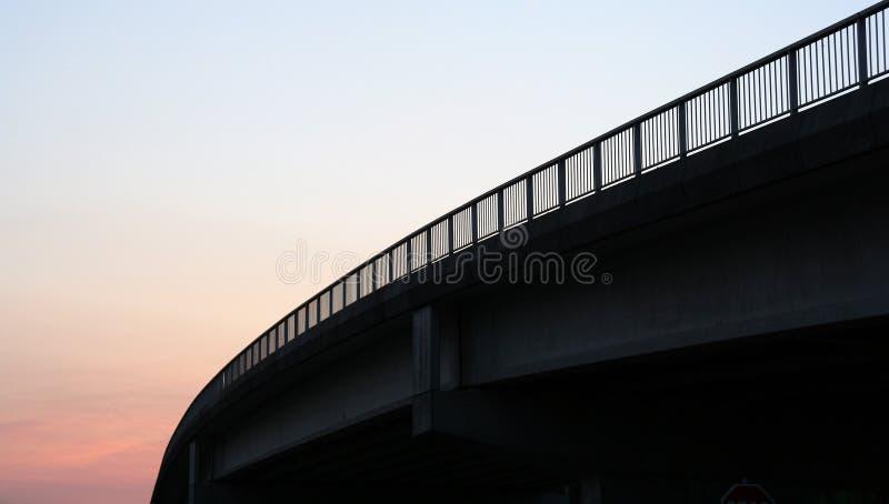 Het Silhouet Van De Brug Stock Fotografie