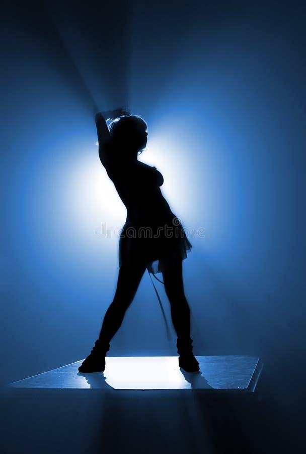 Het silhouet van de danser royalty-vrije illustratie