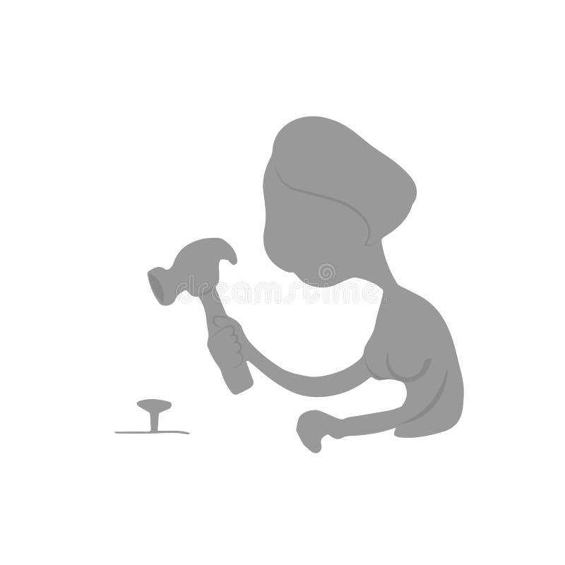 Het Silhouet van de de hamerspijker van vrouwenglazen vector illustratie