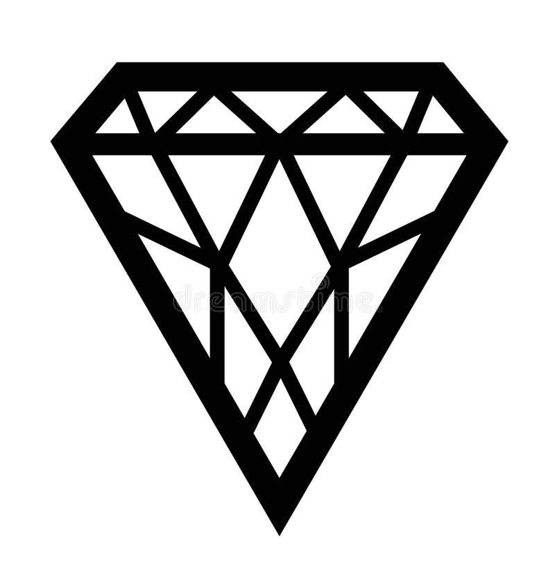 Het silhouet van de diamant royalty-vrije illustratie