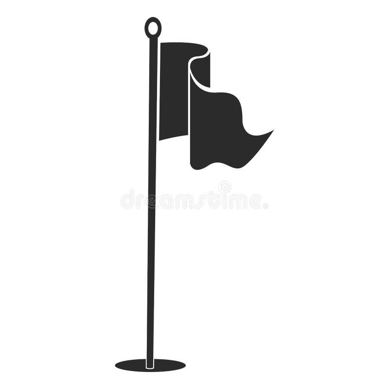 Het silhouet van de golfvlag royalty-vrije illustratie