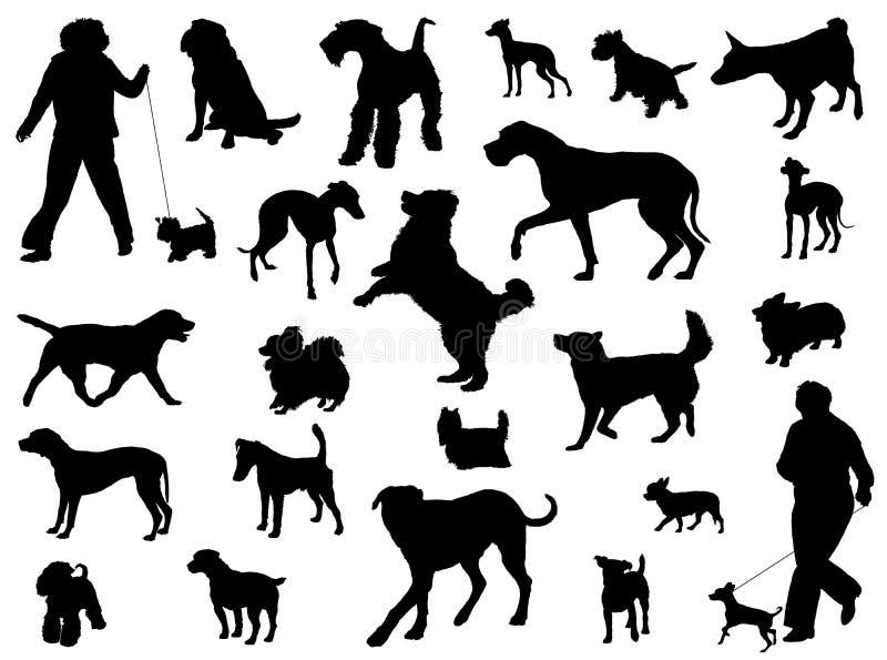Het Silhouet van de hond stock illustratie
