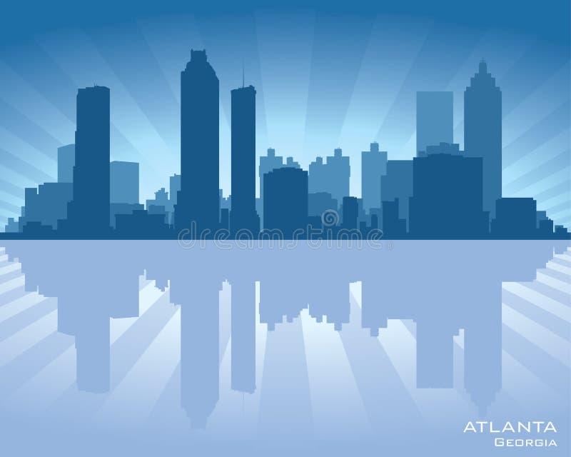 Het silhouet van de de horizonstad van Atlanta, Georgië royalty-vrije illustratie