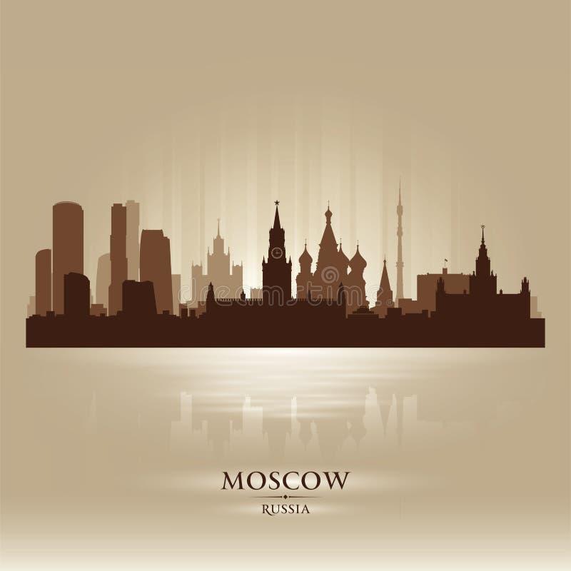 Het silhouet van de de horizonstad van Moskou Rusland stock illustratie