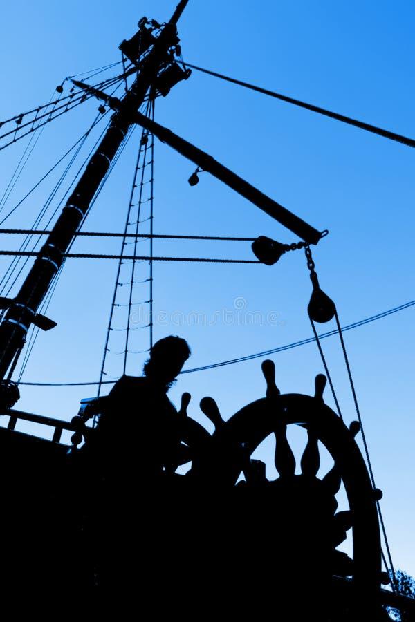 Het Silhouet van de kapitein royalty-vrije stock fotografie