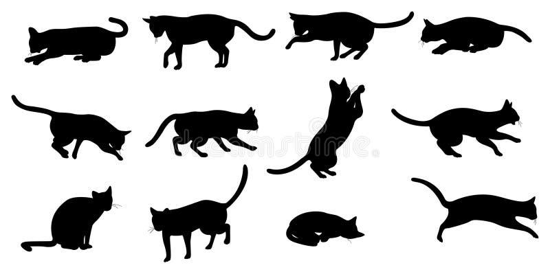 Het silhouet van de kat vector illustratie