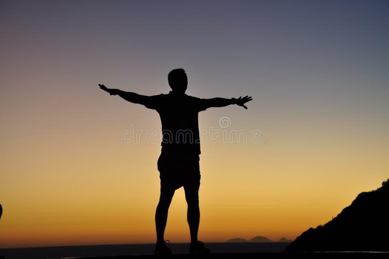 Het silhouet van de mens royalty-vrije stock afbeelding