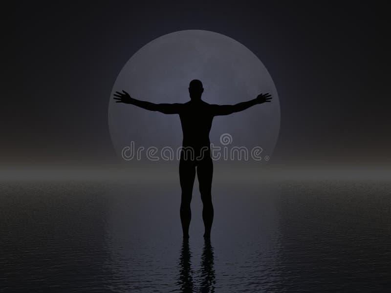 Het Silhouet van de mens vector illustratie