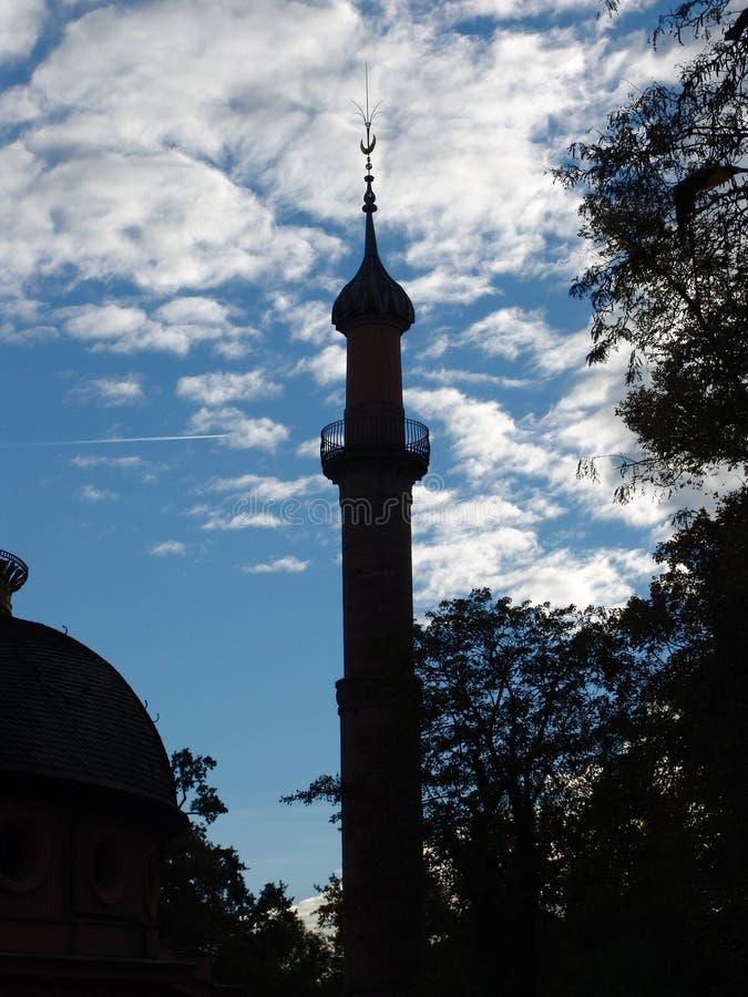 Het Silhouet van de moskee royalty-vrije stock foto's