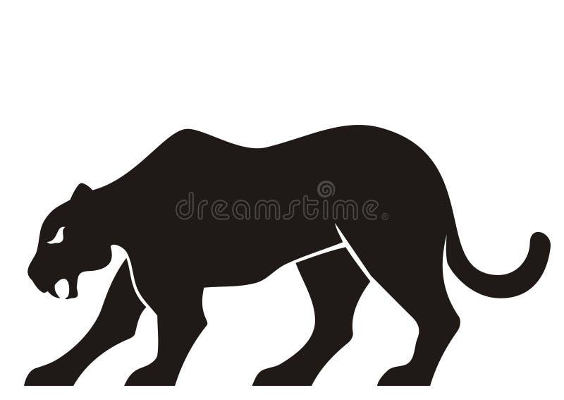 Het silhouet van de panter vector illustratie