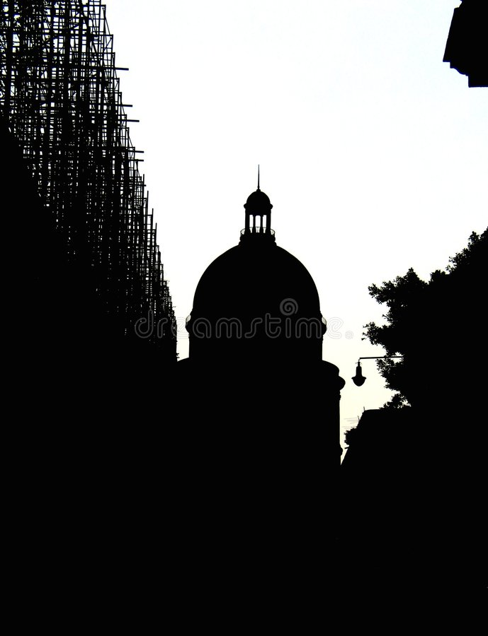 Het silhouet van de stad stock illustratie