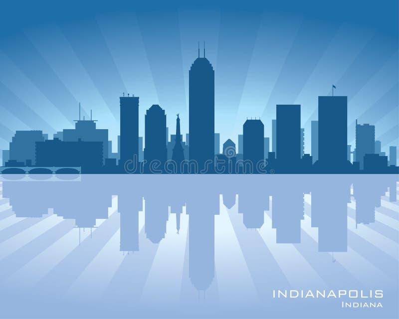 Het silhouet van de de stadshorizon van Indianapolis, Indiana vector illustratie