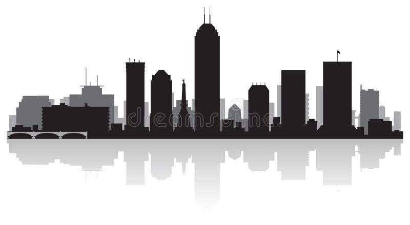 Het silhouet van de de stadshorizon van Indianapolis Indiana stock illustratie