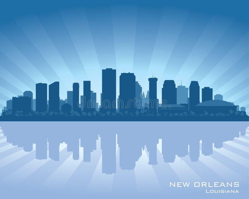 Het silhouet van de de stadshorizon van New Orleans, Louisiane royalty-vrije illustratie