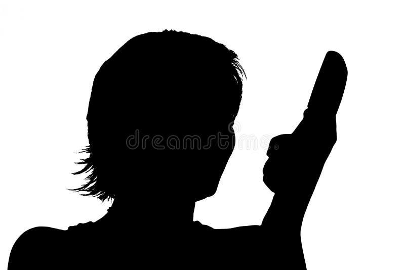Het silhouet van de telefoon vector illustratie