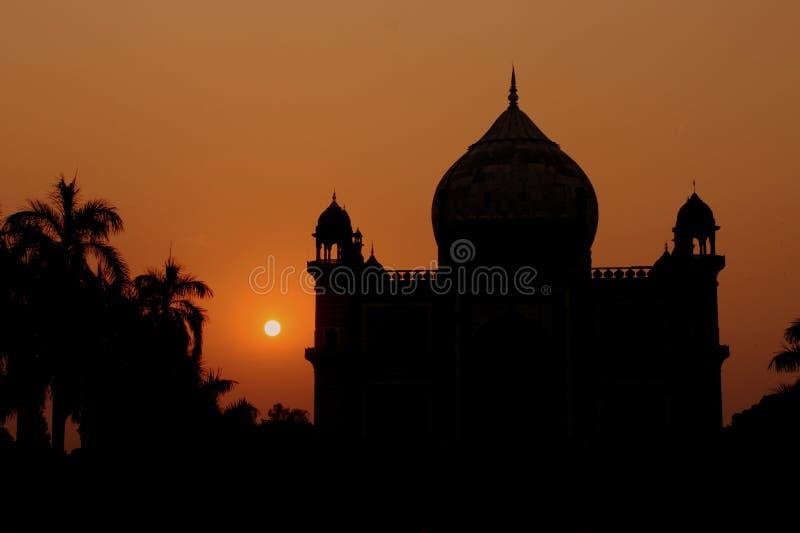 Het silhouet van de tempel royalty-vrije stock fotografie
