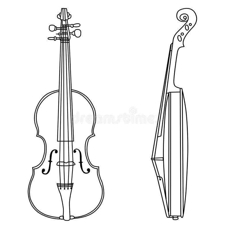 Het silhouet van de viool vector illustratie