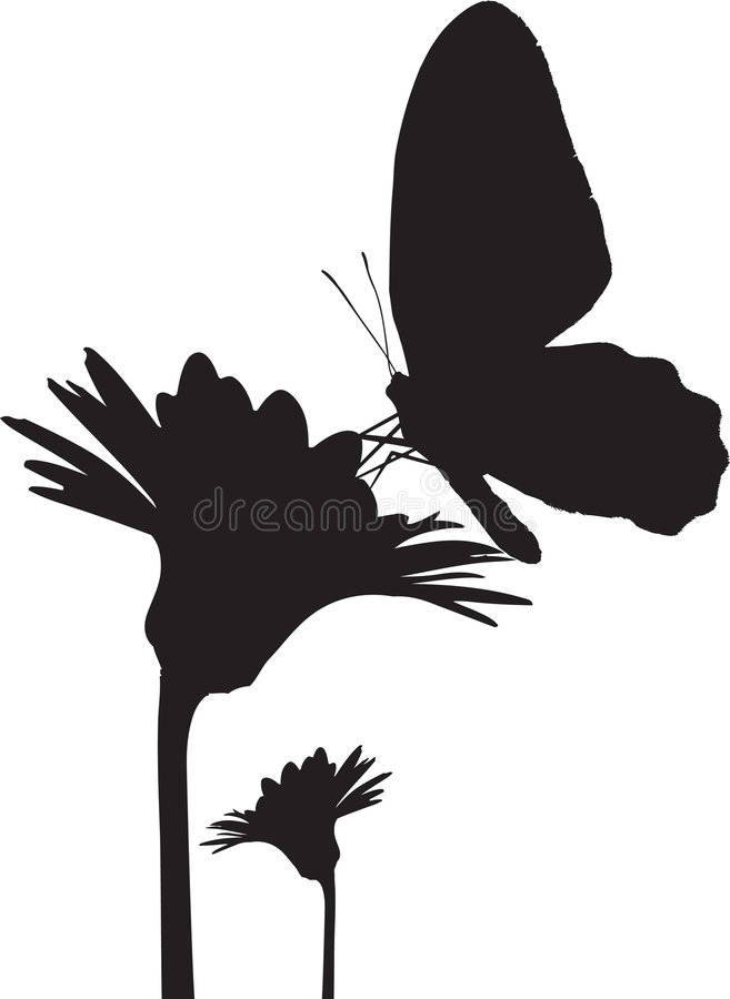 Het silhouet van de vlinder