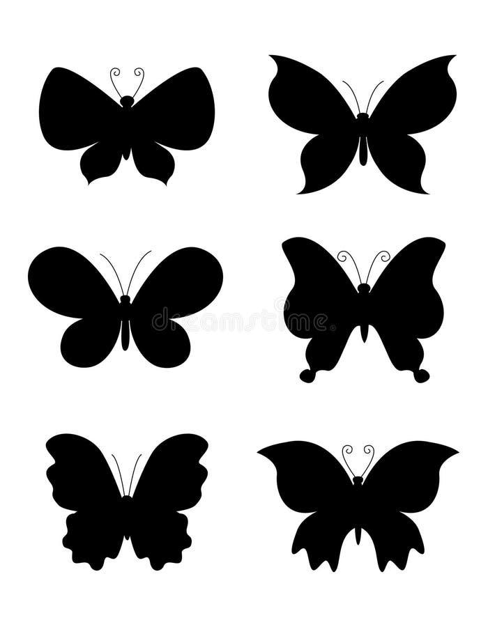 Het silhouet van de vlinder/van vlinders