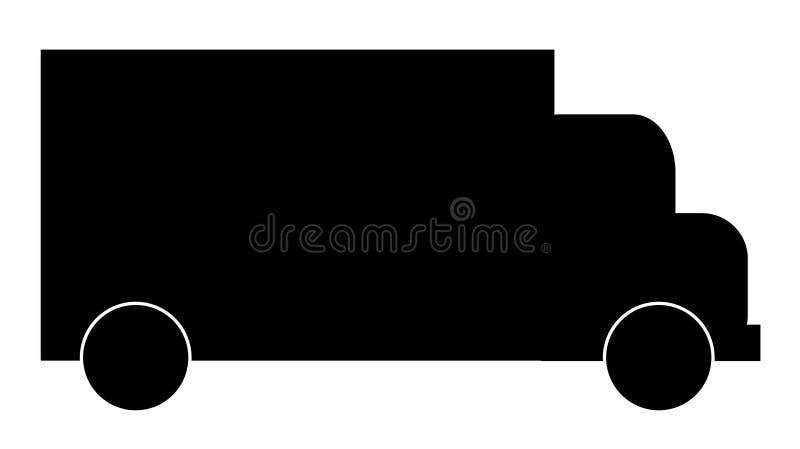 Het silhouet van de vrachtwagen stock illustratie