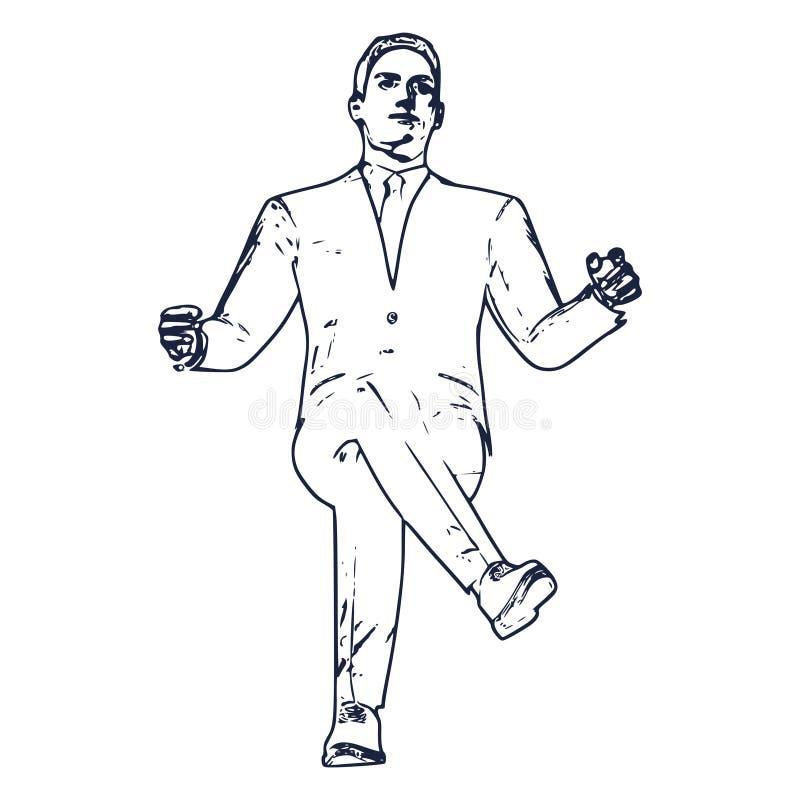 Het silhouet van de zittingsmens vector illustratie