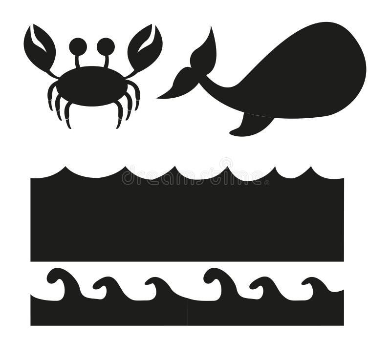 Het silhouet van dieren stock illustratie