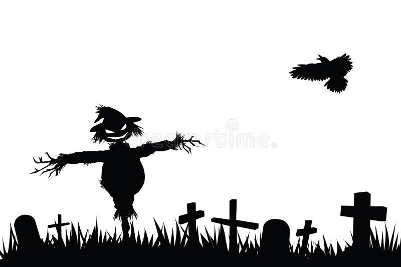 Het silhouet van Halloween royalty-vrije illustratie