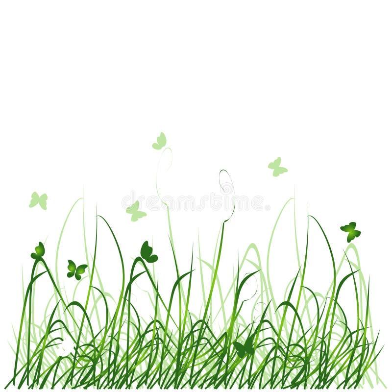 Het silhouet van het gras royalty-vrije illustratie