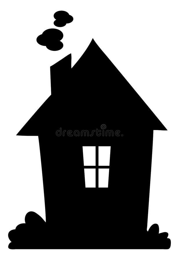 Het silhouet van het huis vector illustratie
