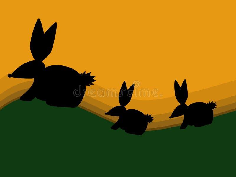 Het Silhouet van het konijn vector illustratie