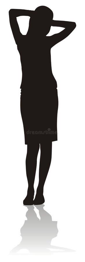 Het silhouet van het meisje royalty-vrije illustratie