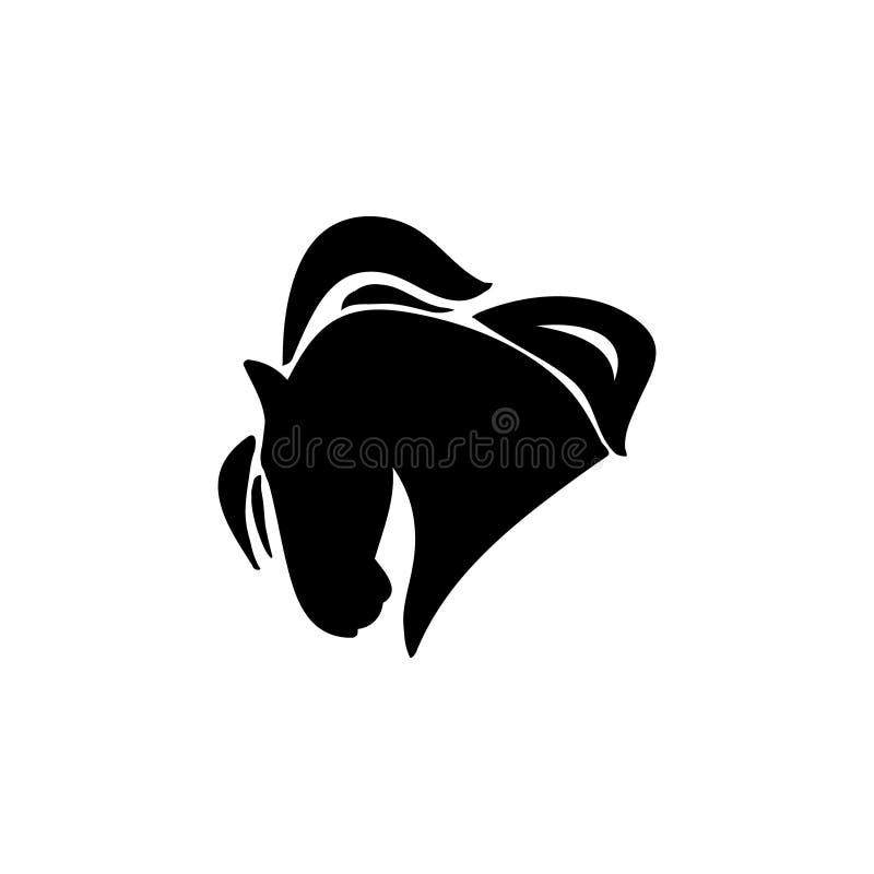 Het silhouet van het paardhoofd stock illustratie