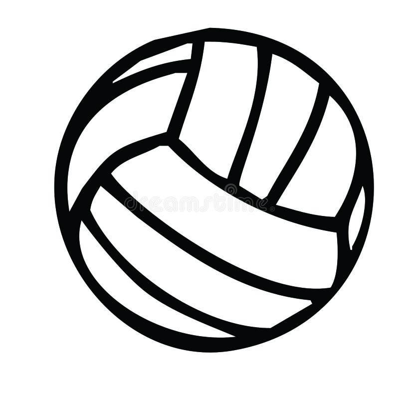 Het silhouet van het volleyball stock afbeelding